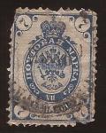 Stamps : Europe : Russia :  Escudo de Armas 1902 7 kopek