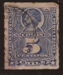 Stamps America - Chile -  Cristobal Colon 1883 5 centavos