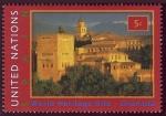 Sellos del Mundo : America : ONU : ESPAÑA - Alhambra, Generalife y Albaicín, Granada
