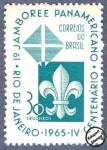 Sellos del Mundo : America : Brasil : 1º Jamboree Panamericano - 4º Centenario de Río de Janeiro