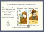 Stamps : America : Brazil :  125º Aniversario del nacimiento de Lord Baden-Powell - 75º Aniversario del escautismo.