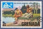 Stamps : America : Grenada :  14º Jamboree del Mundial en Noruega 1975