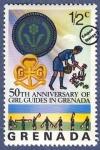 Sellos del Mundo : America : Granada : 50º Aniversario de las Guías Scouts de Granada