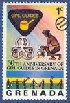 Stamps : America : Grenada :  50º Aniversario de las Guías Scouts de Granada