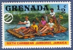 Stamps of the world : Grenada :  6º Jamboree del Caribe en Jamaica 1977