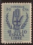 Sellos de Europa - España -  II Aniversario Alzamiento Nacional 1938 30 cents HIJOS