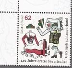 Stamps Germany -  125 años primeros trajes típicos de montaña bávaros