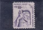 Sellos de America - Estados Unidos -  derecho de los pueblos