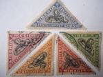 Stamps : Africa : Liberia :  Fauna. Víbora Babuino (Bitis Gobonoco) Harper.