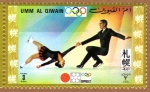 Stamps United Arab Emirates -  COL-PATINADORES SOBRE HIELO