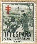 Stamps Spain -  Cruz de Lorena