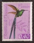 Stamps Venezuela -  Colibrí de Cola Larga  1962 0,40 Bolívares
