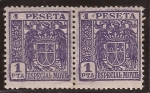 Stamps Europe - Spain -  Especial Movil - Escudo España 1 pta