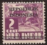 Sellos de Asia - Indonesia -  Republica Indonesia 1945 2 cents habilitado de India Holandesa