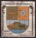 Sellos de America - Ecuador -  Escudo de Cantón Mejía  1960 aéreo 1 sucre