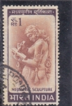 Stamps : Asia : India :  escultura medieval