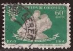 Sellos de America - Colombia -  Año Mundial de los Refugiados  1960 aéreo 60 centavos