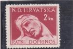 Sellos de Europa - Croacia -  herido de guerra