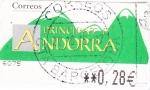 Sellos de Europa - Andorra -  montañas -ATM