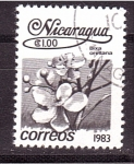 Stamps Nicaragua -  serie- flores locales