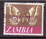 Stamps Zambia -  mariposa