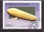 Stamps Azerbaijan -  serie- dirigibles