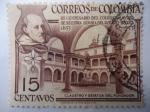 Sellos de America - Colombia -  III Centenario del Colegio Mayor de Nuestra Señora del Rosario-Bogotá 1653-1953 - Claustro y Estatua