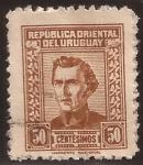 Sellos de America - Uruguay -  General José Artigas  1961 50 cents