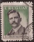 Sellos de America - Uruguay -  Dr. Carlos Vaz Ferreira  1959 1 peso