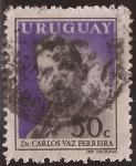 Sellos del Mundo : America : Uruguay :  Dr. Carlos Vaz Ferreira  1959 50 cents