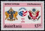 Sellos del Mundo : America : Santa_Lucía : Amistad EE.UU