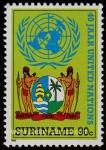Sellos del Mundo : America : Surinam : Escudo de armas y ONU