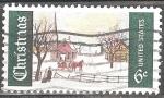 Sellos de America - Estados Unidos -  Navidad. Domingo Invierno en Noruega, Maine (S.Kohl).