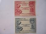 Stamps Colombia -  Por la Patria, la Paz y la Justicia - 13 de Junio 1953.