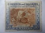 Stamps Colombia -  Minas de Oro - Departamento de Nariño.