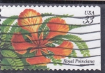 Stamps United States -  flores- royal poinciana