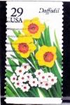 Sellos de America - Estados Unidos -  flores- narciso