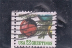 Stamps United States -  bolas navideñas