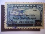Stamps Costa Rica -  Tratado Limítrofe Costa Rica - Panamá- Mayo 1941.