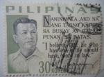 Sellos de Asia - Filipinas -  Ramon Magsaysay (1907-1957)- Credo Presidencial -Serie:Dichos Presidenciales.