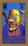 Stamps United Arab Emirates -  INT-MÁSCARA DE BORNEO