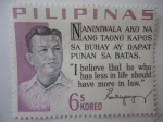 Sellos de America - Filipinas -  Ramon Magsaysay