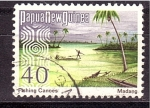 Stamps Oceania - Papua New Guinea -  canoas de pesca