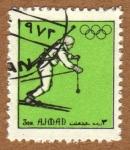 Stamps United Arab Emirates -  COL-TIRADOR OLIMPICO ESQUIANDO
