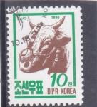 Stamps : Asia : North_Korea :  ganado vacuno