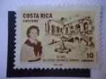 Stamps Costa Rica -  100 años del Colegio Superior de Señoritas 1888-1988.