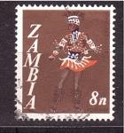 Sellos de Africa - Zambia -  danza típica