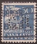 Sellos de Europa - Dinamarca -  Barco Velero  1934  30 ore danés