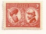Sellos de Europa - Rumania -  Miguel el Bravo y rey Fernando