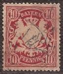 Sellos de Europa - Alemania -  Escudo de Baviera  1888 10 pfennig